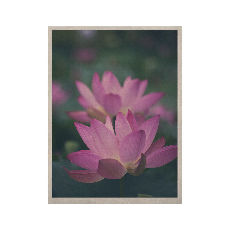 "Catherine McDonald ""Hope for Tomorrow"" Pink Green KESS Naturals Canvas (Frame not Included) - KESS InHouse  - 1"