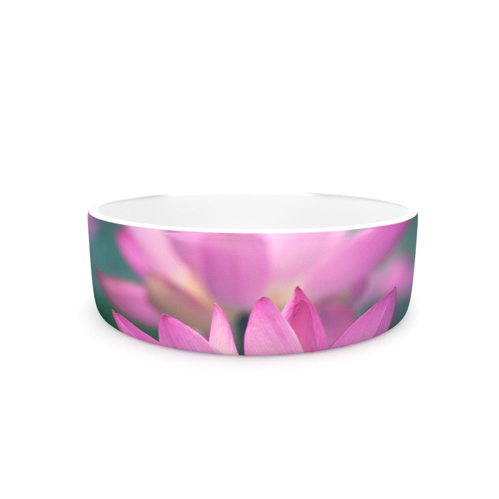 "Catherine McDonald ""Hope for Tomorrow"" Pink Green Pet Bowl - KESS InHouse"