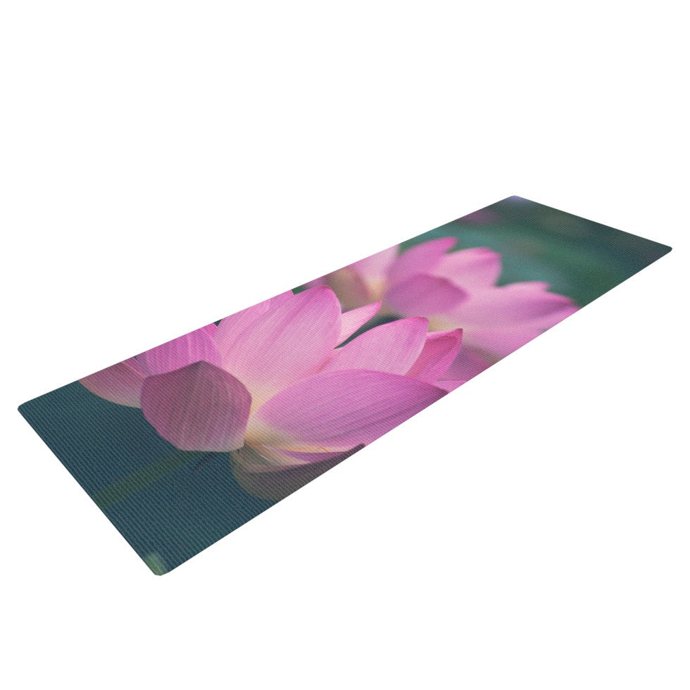 "Catherine McDonald ""Hope for Tomorrow"" Pink Green Yoga Mat - KESS InHouse  - 1"