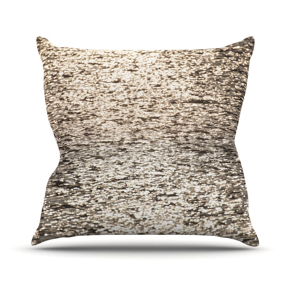 "Catherine McDonald ""Golden Hour"" Water Reflection Outdoor Throw Pillow - KESS InHouse  - 1"