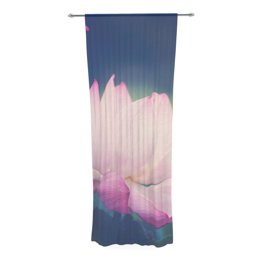 "Catherine McDonald ""Hope for Tomorrow II"" Green Pink Decorative Sheer Curtain - KESS InHouse  - 1"