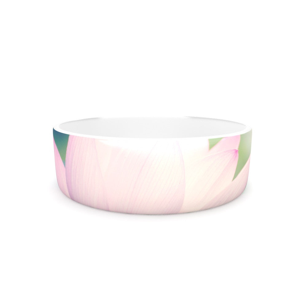 "Catherine McDonald ""Hope for Tomorrow II"" Green Pink Pet Bowl - KESS InHouse"