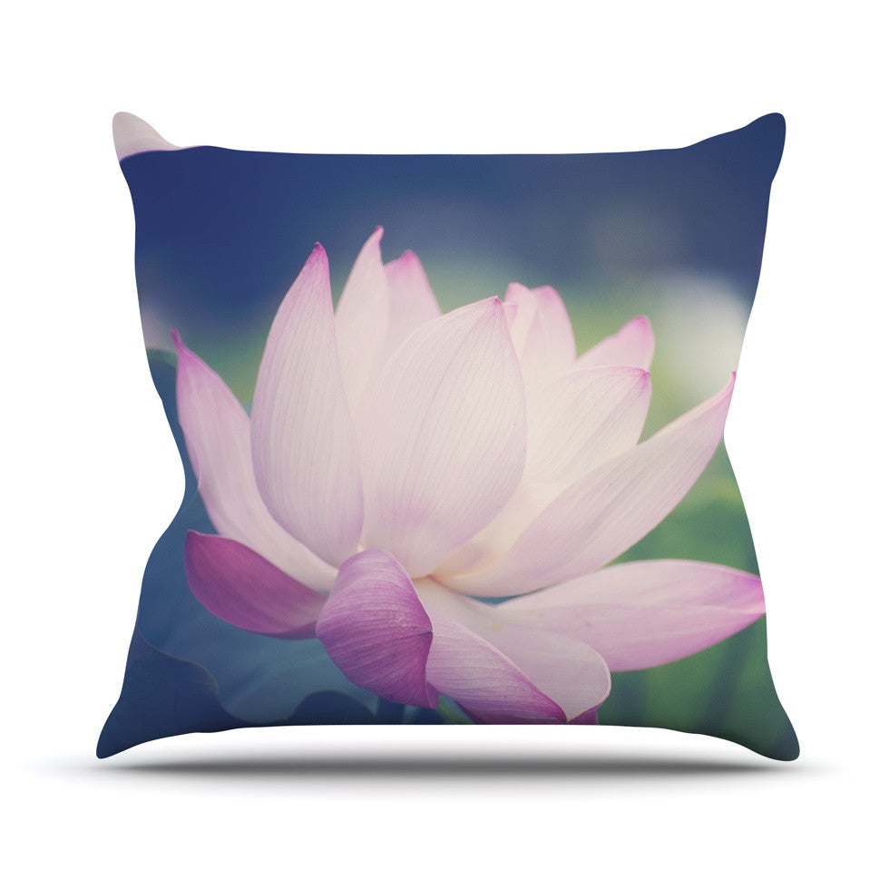 "Catherine McDonald ""Hope for Tomorrow II"" Green Pink Outdoor Throw Pillow - KESS InHouse  - 1"