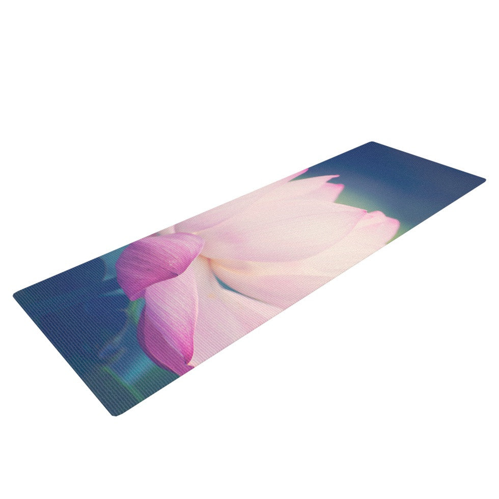 "Catherine McDonald ""Hope for Tomorrow II"" Green Pink Yoga Mat - KESS InHouse  - 1"