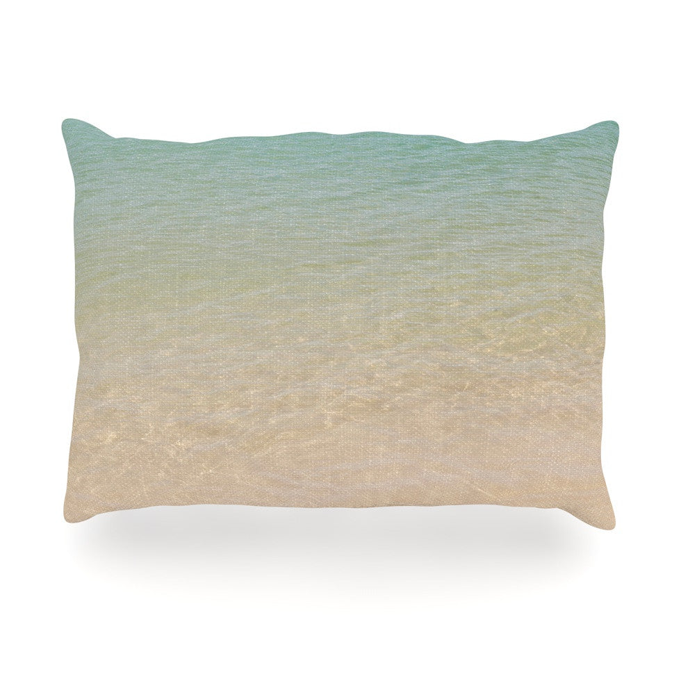 "Catherine McDonald ""Ombre Sea"" Beach Photography Oblong Pillow - KESS InHouse"