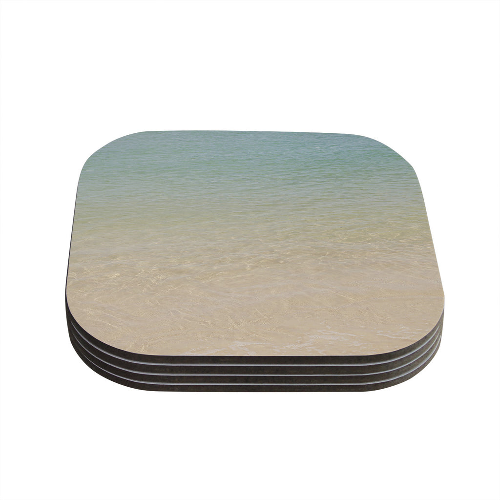 "Catherine McDonald ""Ombre Sea"" Beach Photography Coasters (Set of 4)"