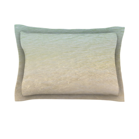"Catherine McDonald ""Ombre Sea"" Beach Photography Pillow Sham - Outlet Item"