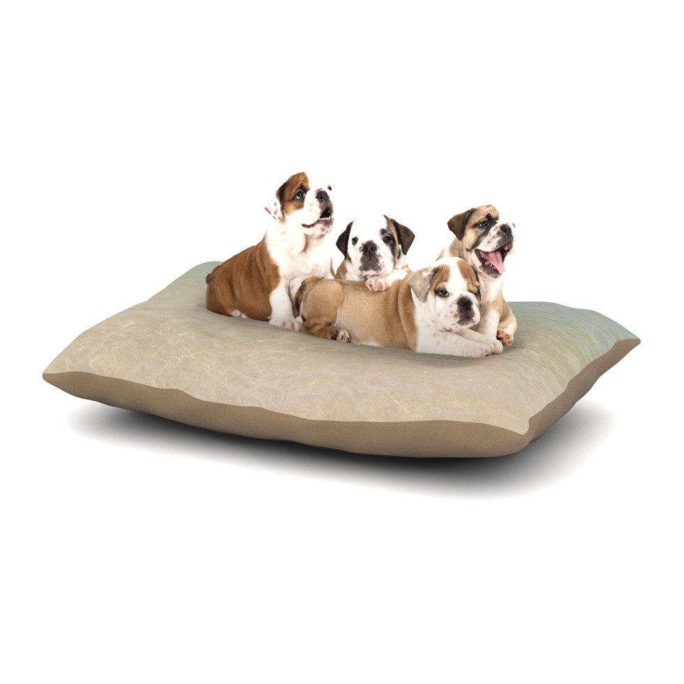 "Catherine McDonald ""Ombre Sea"" Beach Photography Dog Bed - KESS InHouse  - 1"