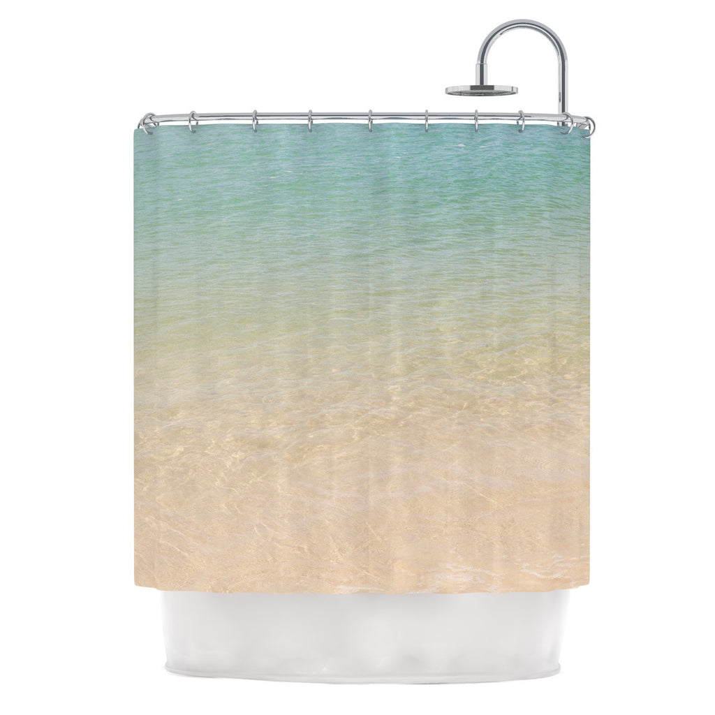 "Catherine McDonald ""Ombre Sea"" Beach Photography Shower Curtain - KESS InHouse"