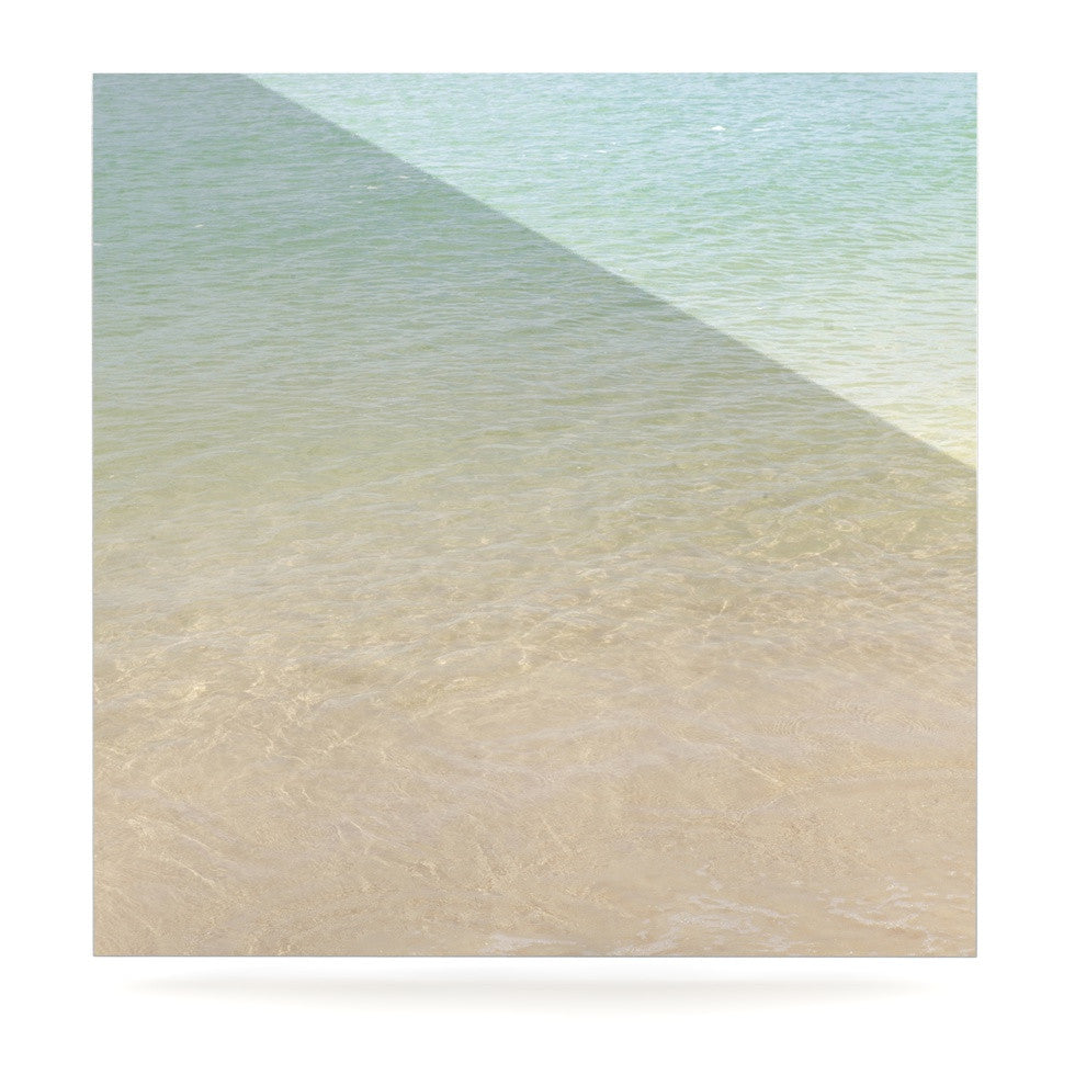 "Catherine McDonald ""Ombre Sea"" Beach Photography Luxe Square Panel - KESS InHouse  - 1"