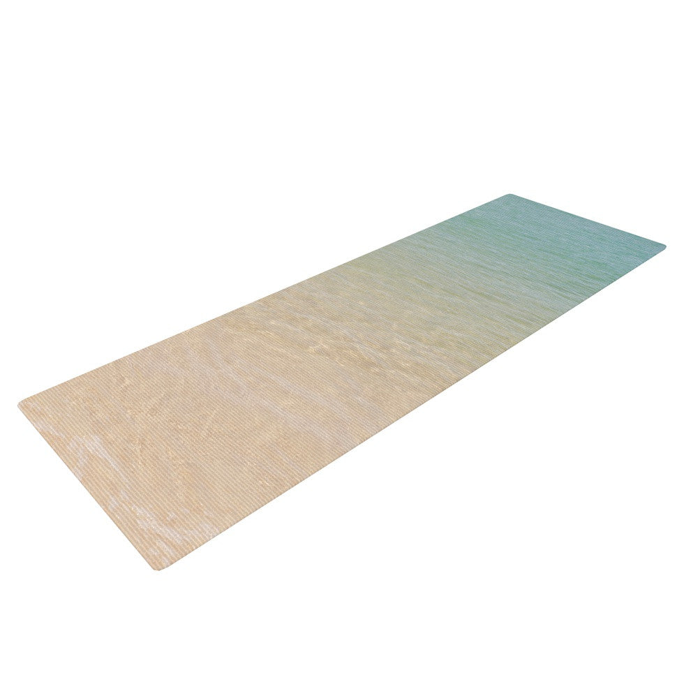 "Catherine McDonald ""Ombre Sea"" Beach Photography Yoga Mat - KESS InHouse  - 1"