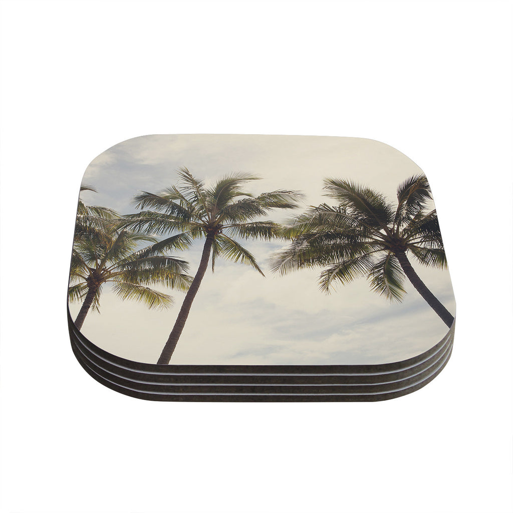 "Catherine McDonald ""Boho Palms"" Coastal Trees Coasters (Set of 4)"