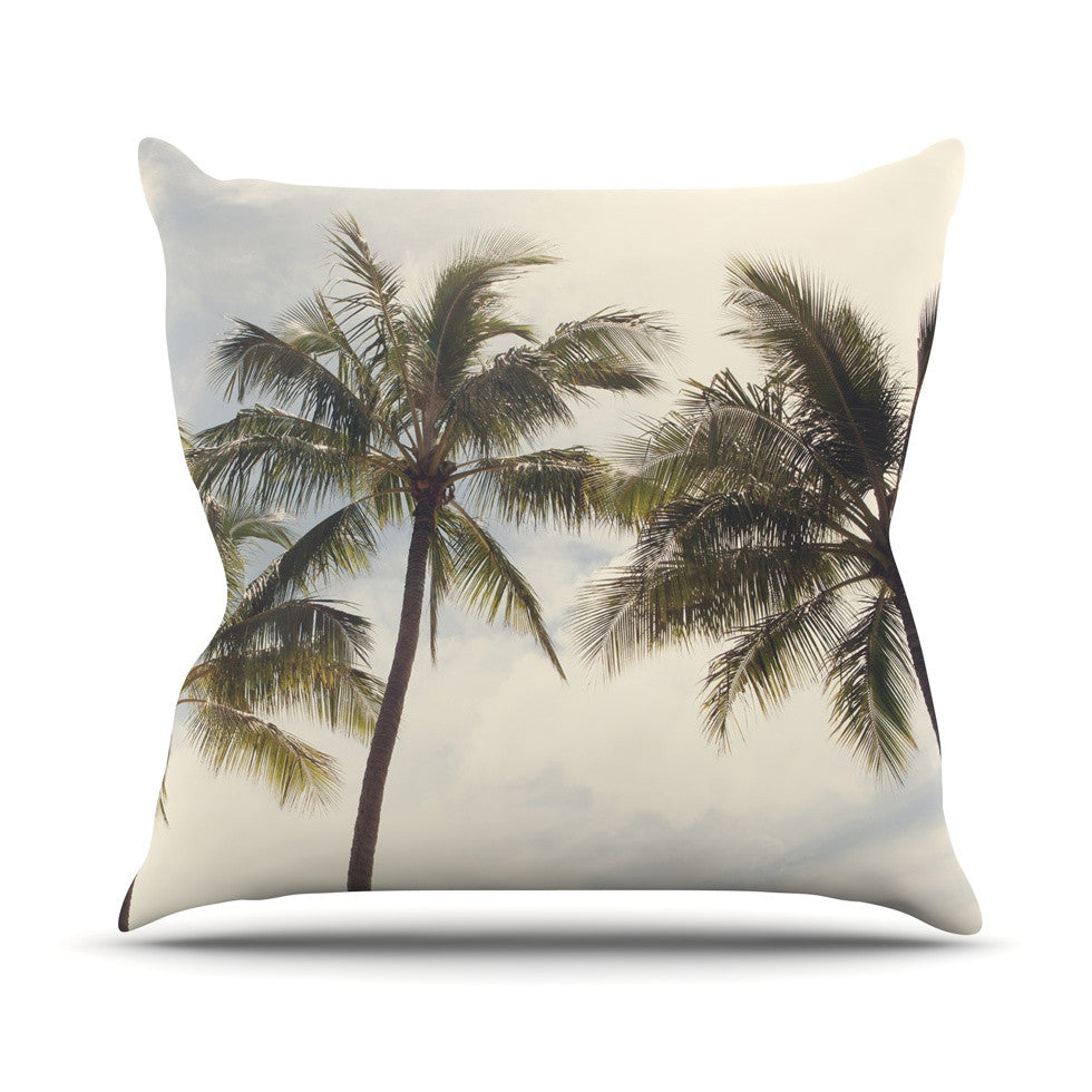 "Catherine McDonald ""Boho Palms"" Coastal Trees Outdoor Throw Pillow - KESS InHouse  - 1"