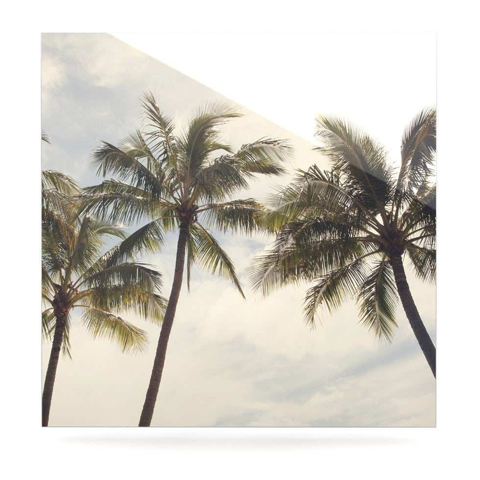 "Catherine McDonald ""Boho Palms"" Coastal Trees Luxe Square Panel - KESS InHouse  - 1"