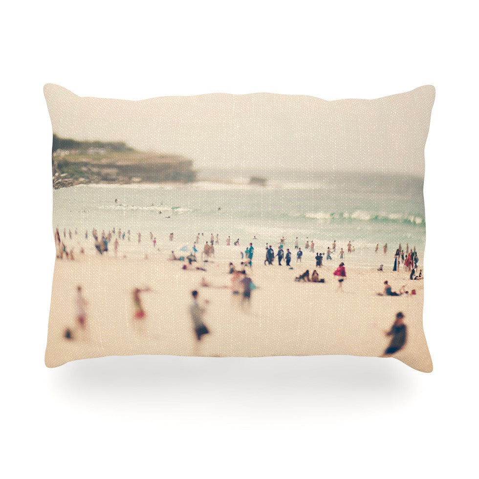 "Catherine McDonald ""Bondi Beach"" Coastal People Oblong Pillow - KESS InHouse"