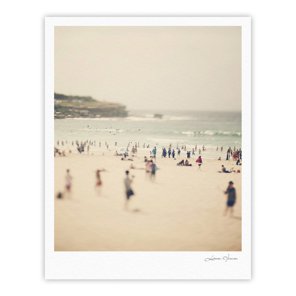 "Catherine McDonald ""Bondi Beach"" Coastal People Fine Art Gallery Print - KESS InHouse"
