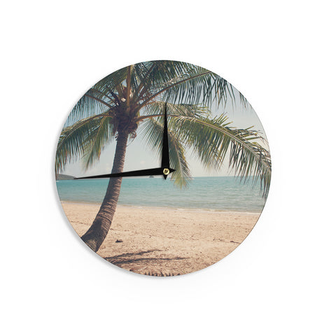 "Catherine McDonald ""Tropic of Capricorn"" Ocean Photography Wall Clock - Outlet Item"