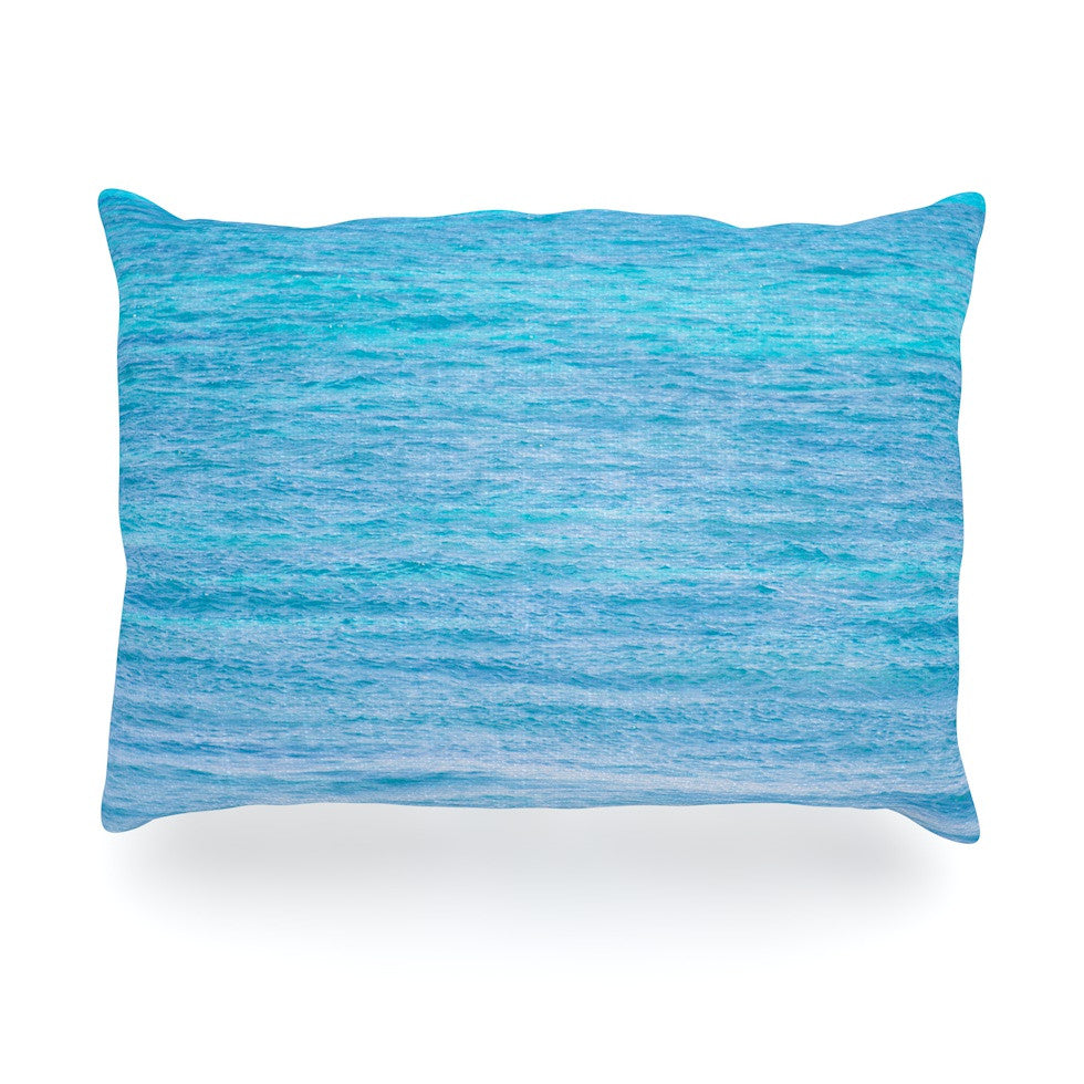 "Catherine McDonald ""South Pacific II"" Ocean Water Oblong Pillow - KESS InHouse"