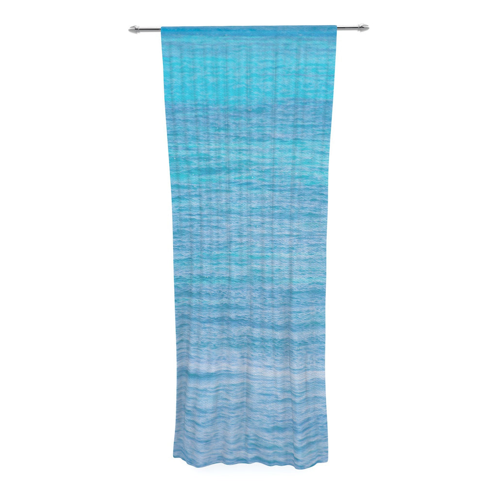 "Catherine McDonald ""South Pacific II"" Ocean Water Decorative Sheer Curtain - KESS InHouse  - 1"