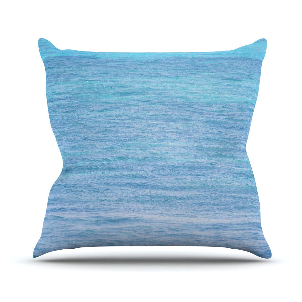 "Catherine McDonald ""South Pacific II"" Ocean Water Outdoor Throw Pillow - KESS InHouse  - 1"