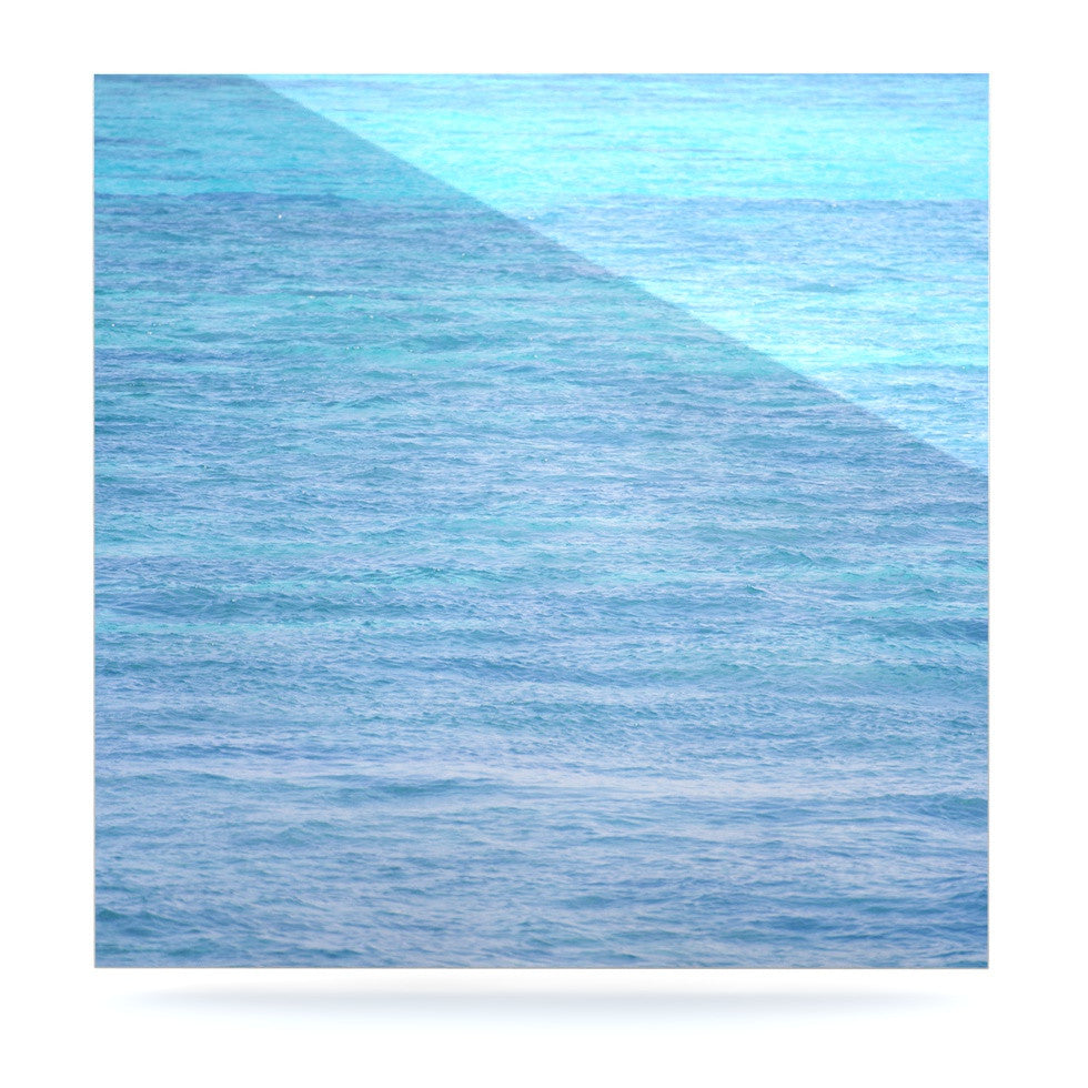 "Catherine McDonald ""South Pacific II"" Ocean Water Luxe Square Panel - KESS InHouse  - 1"