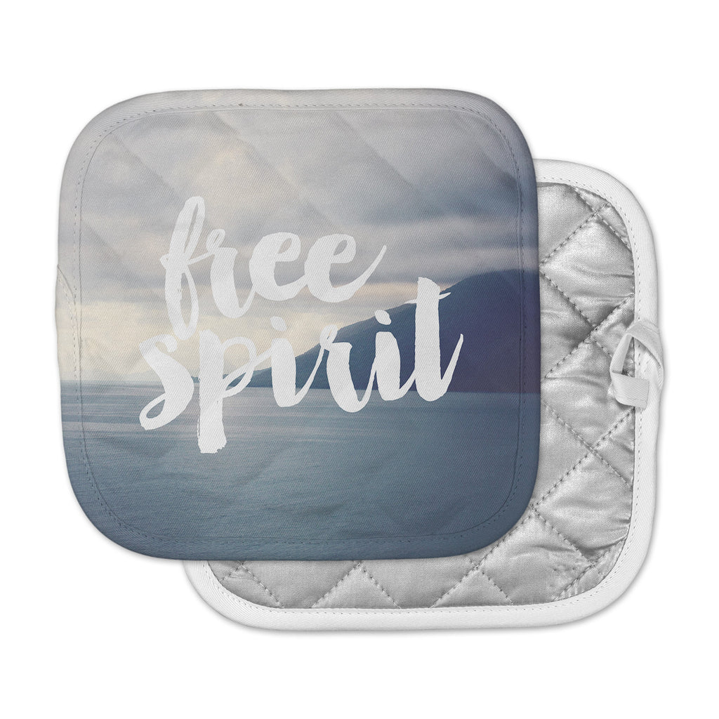 "Catherine McDonald ""Free Spirit"" Coastal Typography Pot Holder"