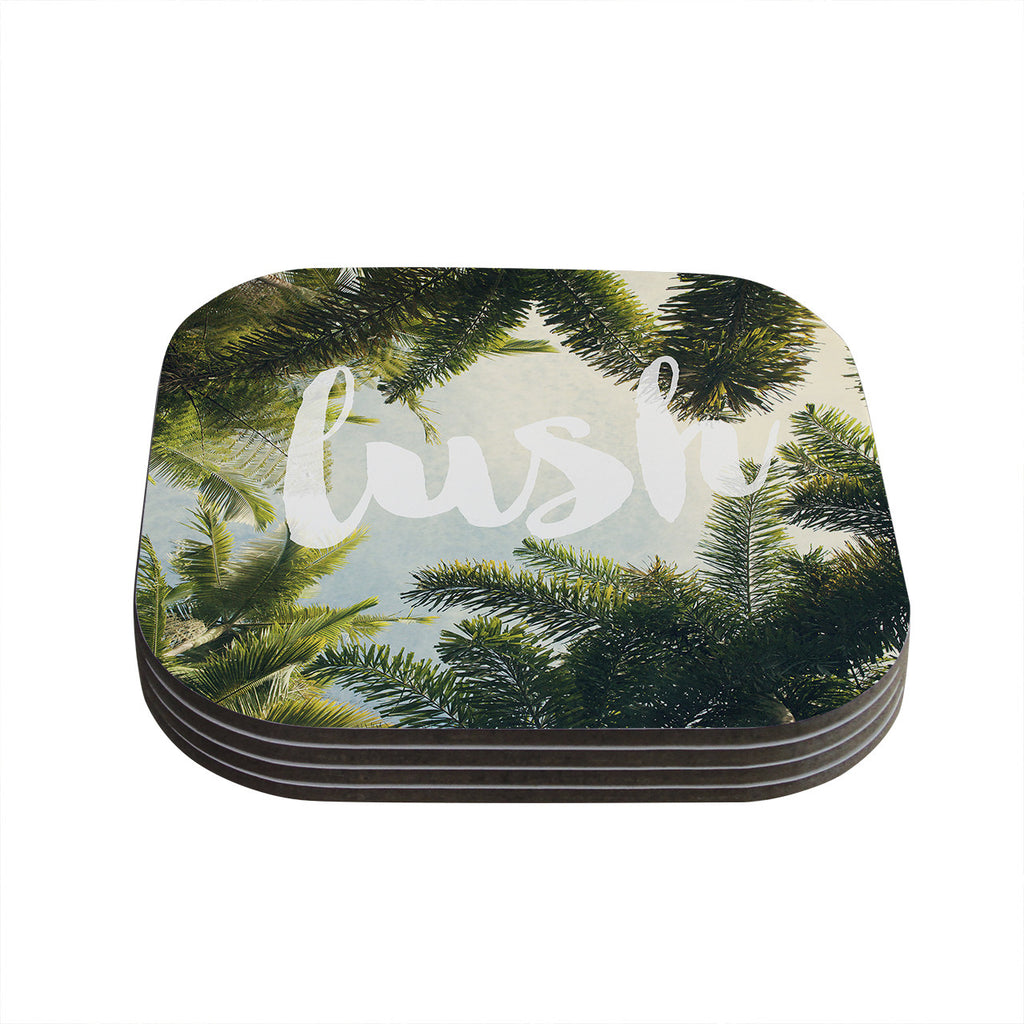 "Catherine McDonald ""Lush"" Nature Typography Coasters (Set of 4)"