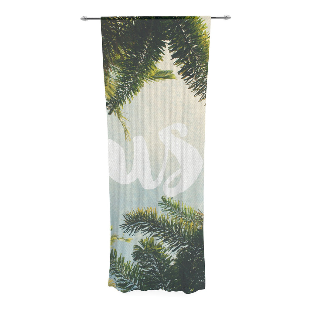 "Catherine McDonald ""Lush"" Nature Typography Decorative Sheer Curtain - KESS InHouse  - 1"