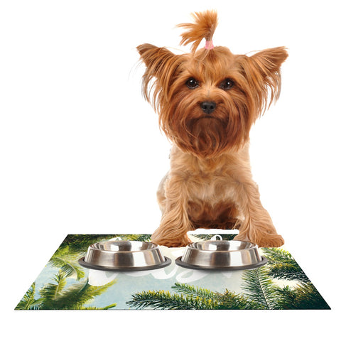 "Catherine McDonald ""Lush"" Nature Typography Dog Place Mat - Outlet Item"