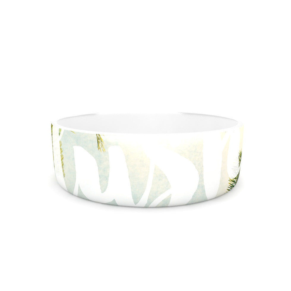 "Catherine McDonald ""Lush"" Nature Typography Pet Bowl - KESS InHouse"