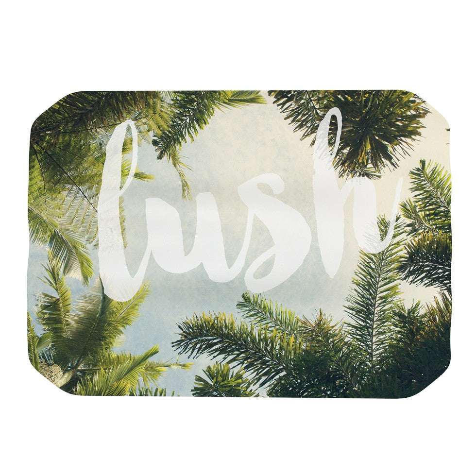 "Catherine McDonald ""Lush"" Nature Typography Place Mat - KESS InHouse"