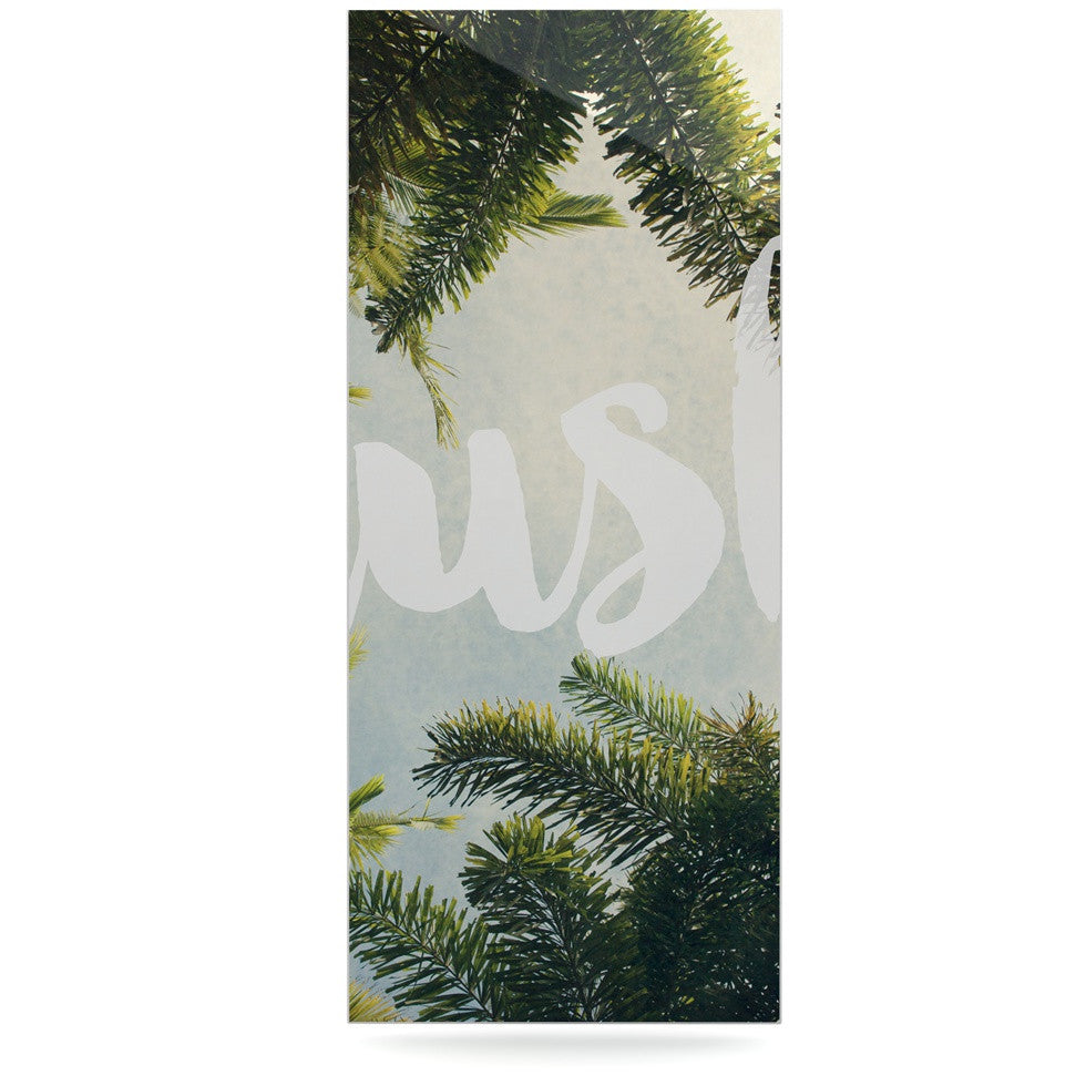 "Catherine McDonald ""Lush"" Nature Typography Luxe Rectangle Panel - KESS InHouse  - 1"