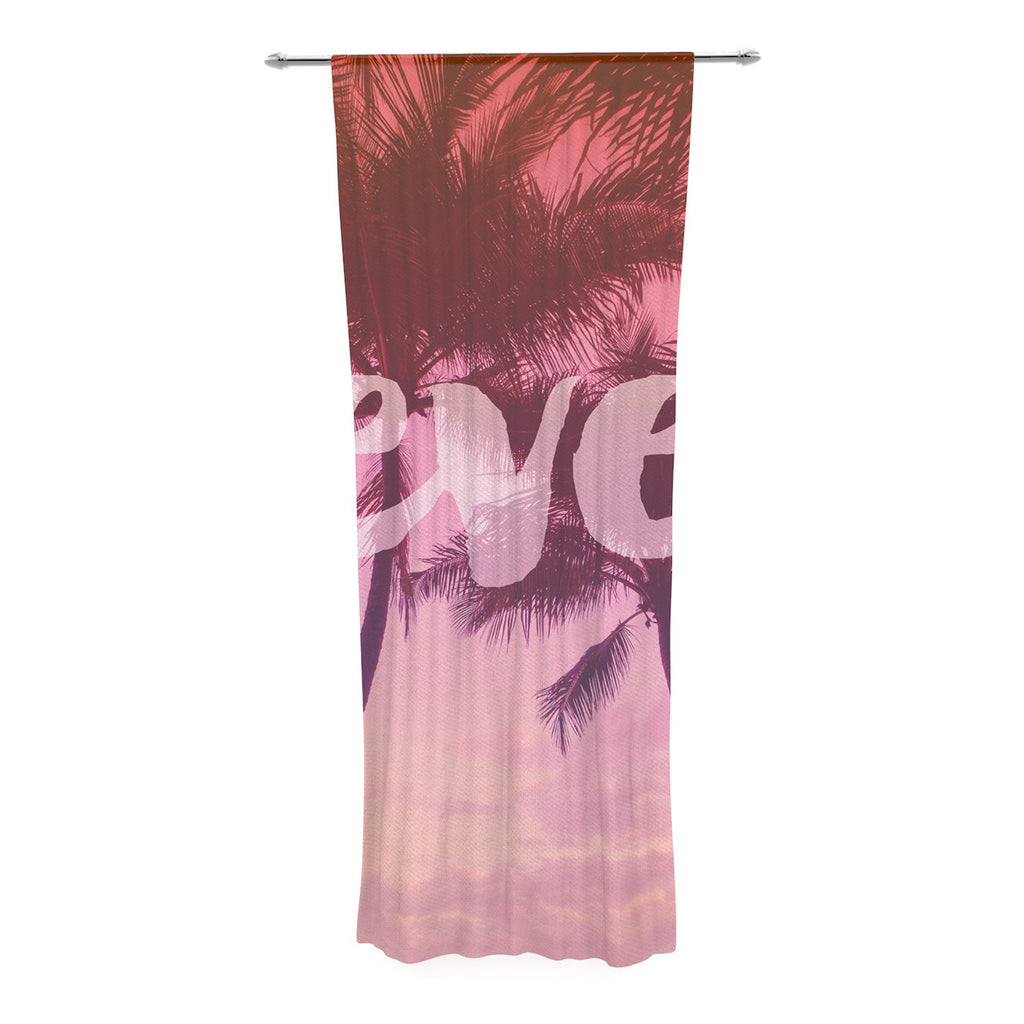"Catherine McDonald ""Fever"" Pink Red Decorative Sheer Curtain - KESS InHouse  - 1"