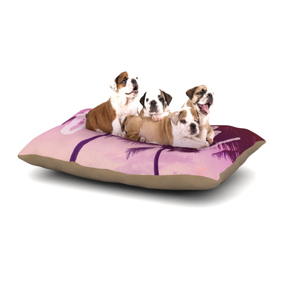 "Catherine McDonald ""Fever"" Pink Red Dog Bed - KESS InHouse  - 1"