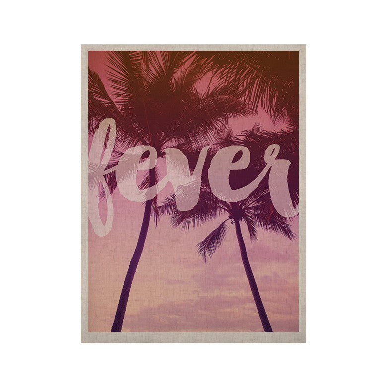 "Catherine McDonald ""Fever"" Pink Red KESS Naturals Canvas (Frame not Included) - KESS InHouse  - 1"