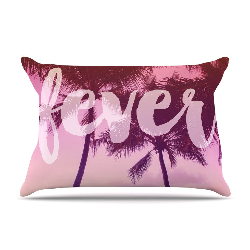 "Catherine McDonald ""Fever"" Pink Red Pillow Sham - KESS InHouse"