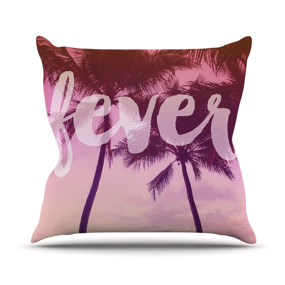 "Catherine McDonald ""Fever"" Pink Red Throw Pillow - KESS InHouse  - 1"