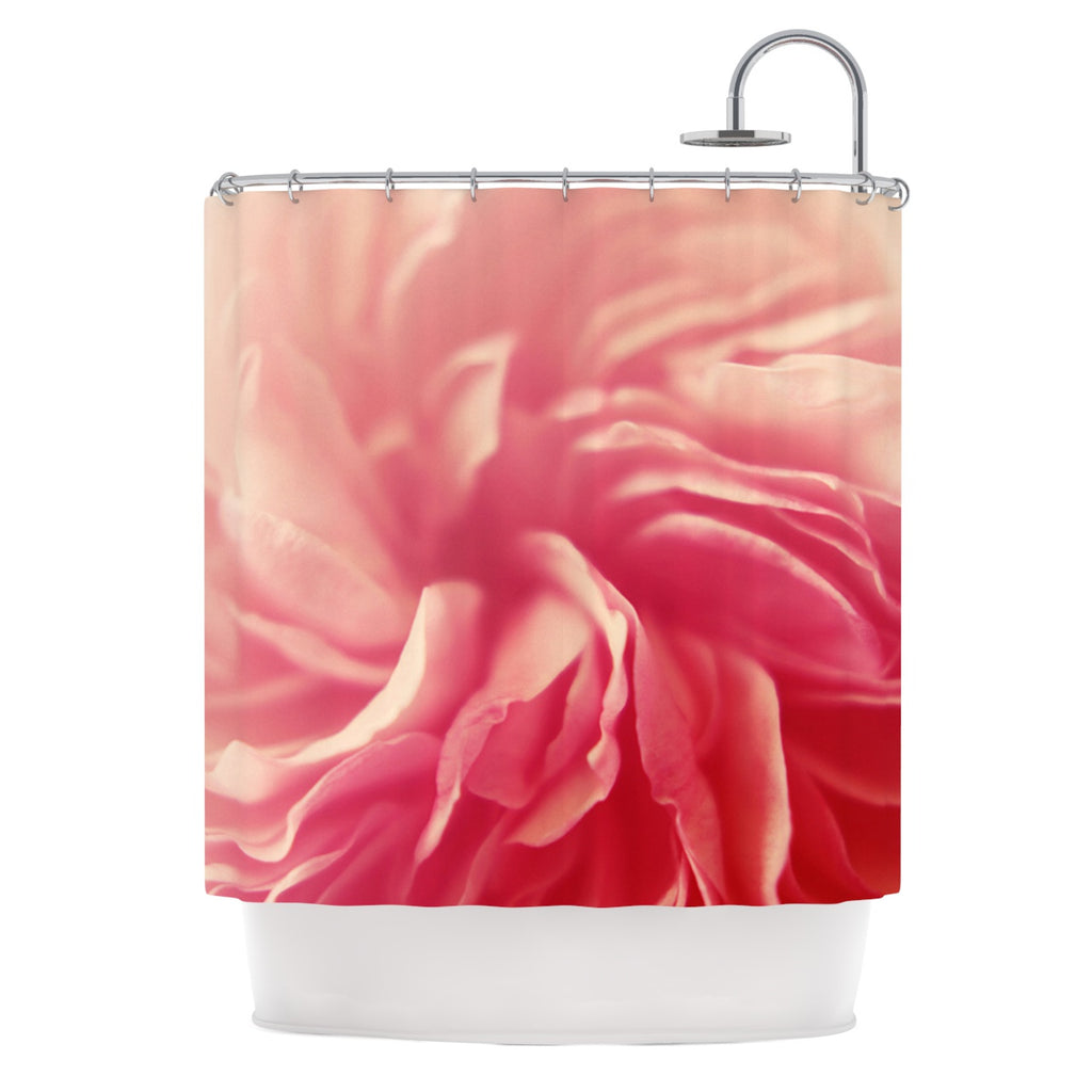 Crissy Mitchell Pink Petals Floral Rose Shower Curtain