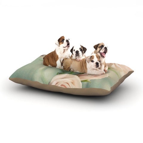 "Cristina Mitchell ""Pink Romance"" Teal Blush Dog Bed - Outlet Item"