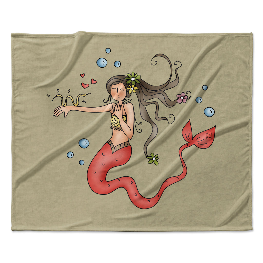 "Carina Povarchik ""Mermaids Lovely"" Fleece Throw Blanket"