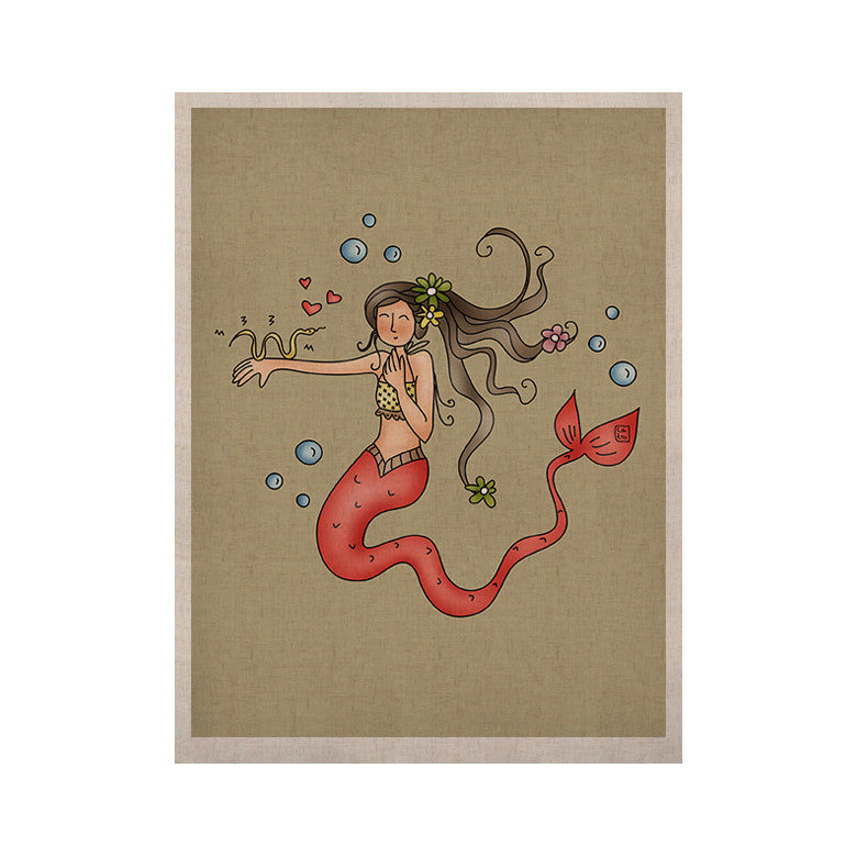 "Carina Povarchik ""Mermaids Lovely"" KESS Naturals Canvas (Frame not Included) - KESS InHouse  - 1"