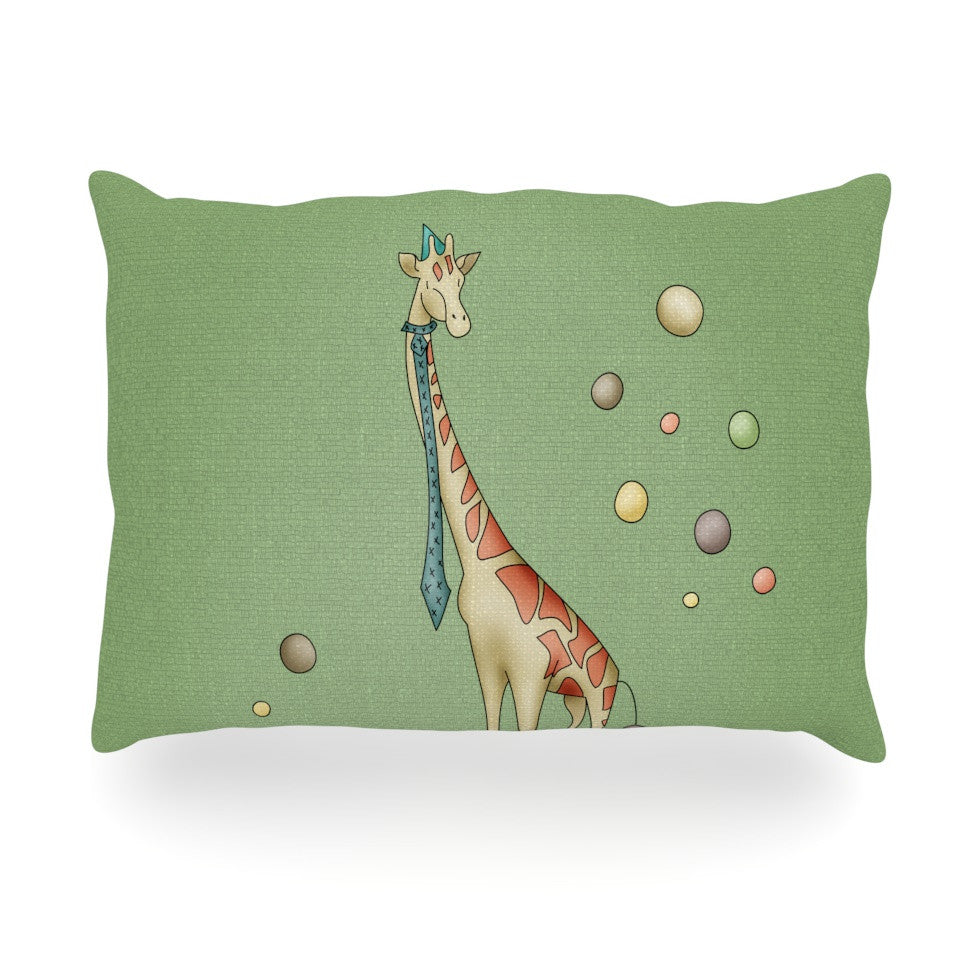 "Carina Povarchik ""Giraffe"" Oblong Pillow - KESS InHouse"