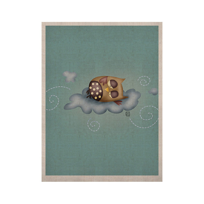 "Carina Povarchik ""Sleepy Guardian"" Owl KESS Naturals Canvas (Frame not Included) - KESS InHouse  - 1"