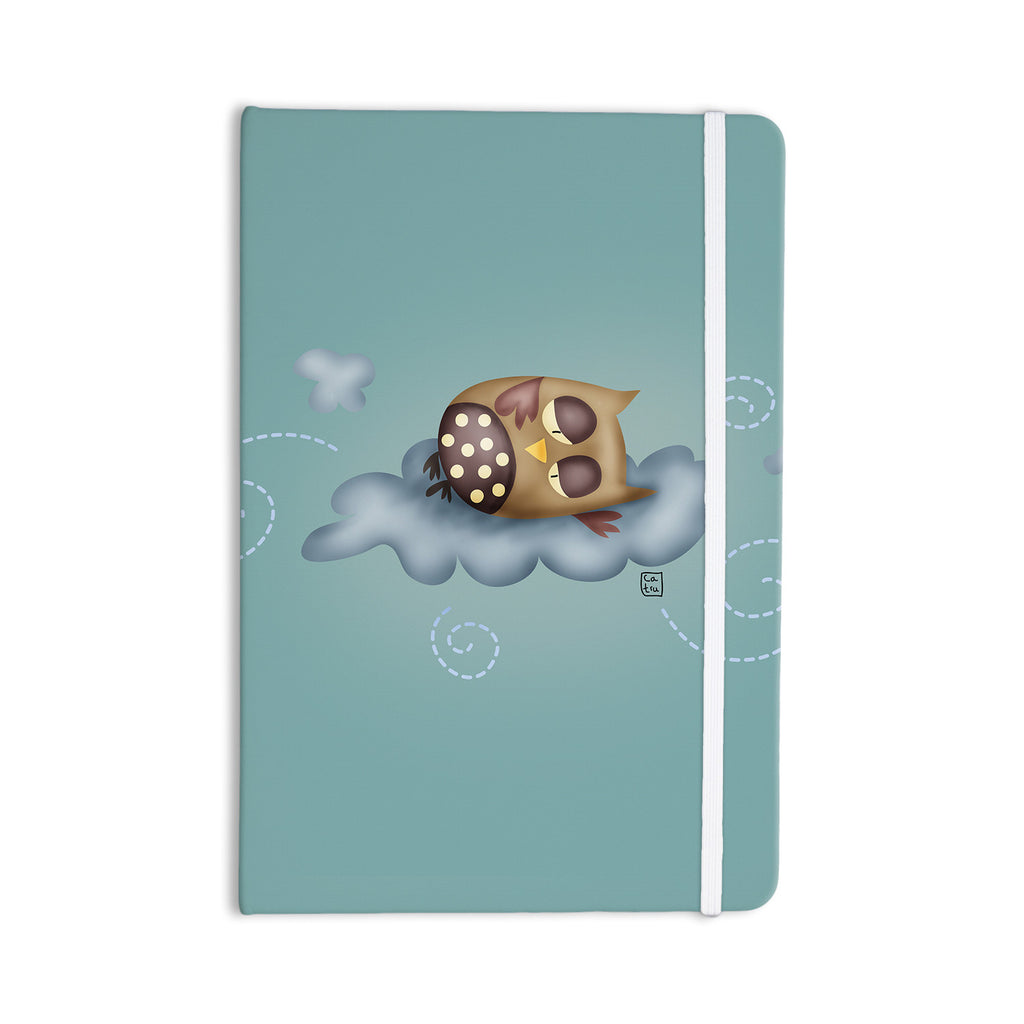 "Carina Povarchik ""Sleepy Guardian"" Owl Everything Notebook - KESS InHouse  - 1"