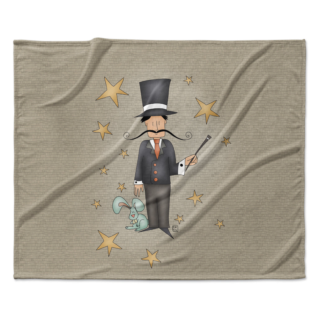 "Carina Povarchik ""Circus Magician"" Fleece Throw Blanket"