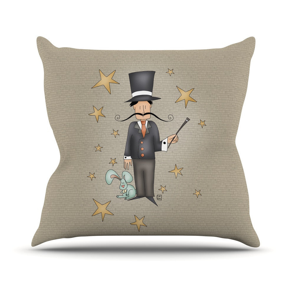 "Carina Povarchik ""Circus Magician"" Outdoor Throw Pillow - KESS InHouse  - 1"