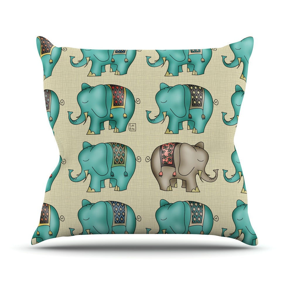 "Carina Povarchik ""Dreamy Ellie"" Art Object Outdoor Throw Pillow - KESS InHouse  - 1"