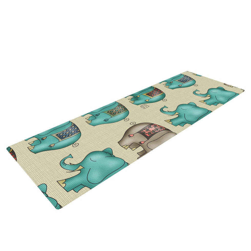 "Carina Povarchik ""Dreamy Ellie"" Art Object Yoga Mat - KESS InHouse  - 1"