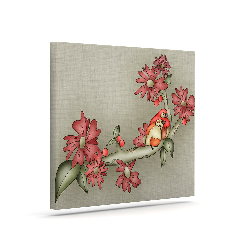 "Carina Povarchik ""Feng Shui"" Red Brown Canvas Art - KESS InHouse  - 1"