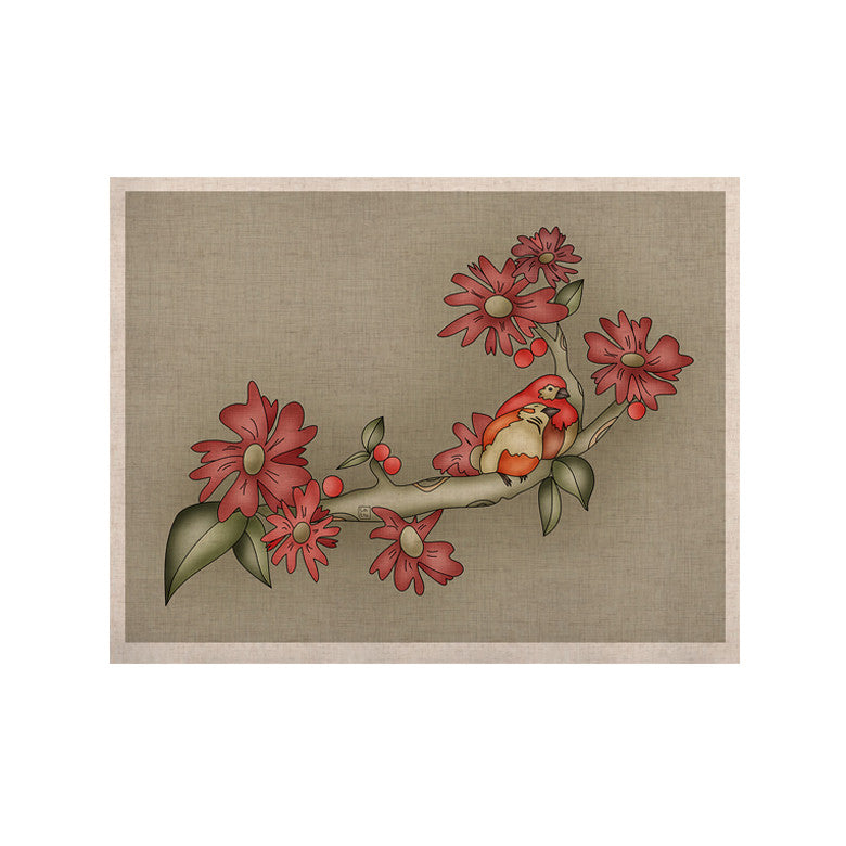 "Carina Povarchik ""Feng Shui"" Red Brown KESS Naturals Canvas (Frame not Included) - KESS InHouse  - 1"